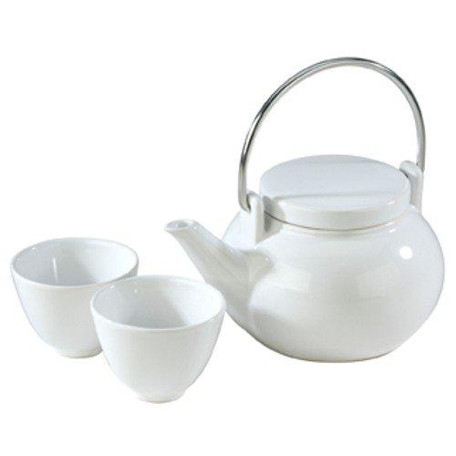 Typhoon Teapot and Tea Cup Set Gloss White