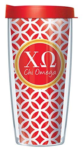 Chi Omega On Roundabout Traveler 16 Oz Tumbler Mug with Lid