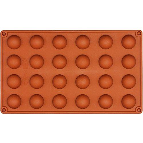 Funshowcase Mini Semi Sphere Half Round Silicone Mold Cookie Chocolate Teacake Fondant Candy Icing Tray