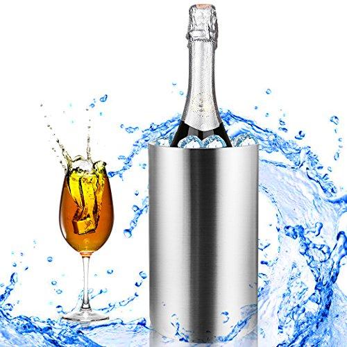 Homdox Stainless Steel Ice Buckets Double Wall Wine Bucket 0702 Litre