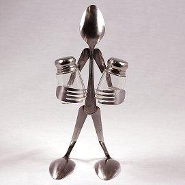 Handmade Salt Pepper Shaker Set - Spoons by Judson Jennings