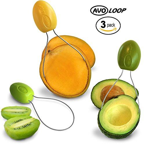 Avoloop - Fast Peel Any Fruit Or Soft Vegetable With Ease. Avocado Slicer Peeler Pitter Scooper, Mango Corer,