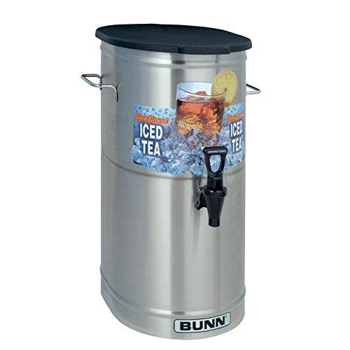BUNN TDO-4 Commercial Iced Tea Dispenser wSolid Lid Oval