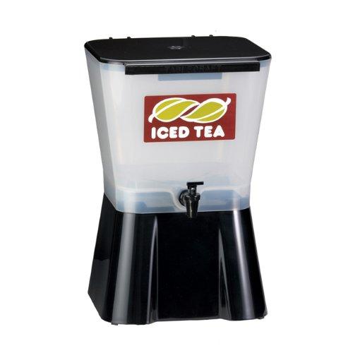 Tablecraft Ice Tea Dispenser 3-Gallon White and Black