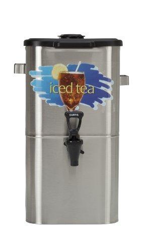 "Wilbur Curtis Iced Tea Dispenser 40 Gallon Tea Dispenser Oval 17""H - Designed to Preserve Flavor - TCO417A000 Each"