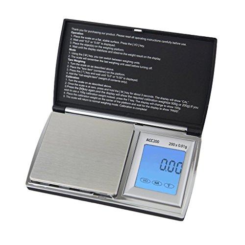 Next-shine Digital Gram Pocket Grain Jewelry Weigh Scale, Black, 200 X 0.01g
