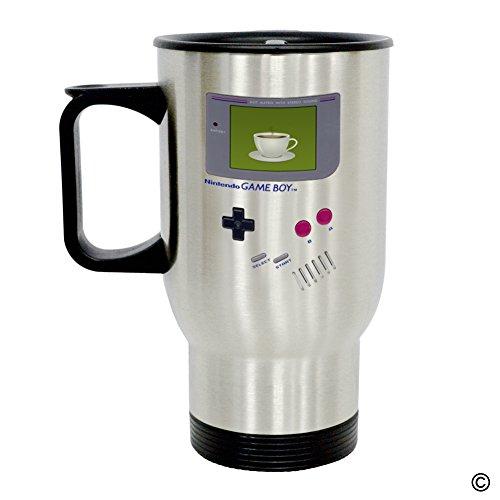 MsMr Personalized Travel Mug - Funny Quote Photo Mug - Nintendo Game Boy Coffee 14 Ounce Stainless Steel Travel Mug CoffeeTeaMilk Mug