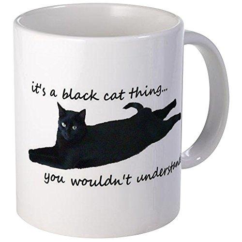CafePress - Black Cat Thing Mugs - Unique Coffee Mug Coffee Cup