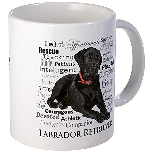CafePress - Black Lab Traits Mugs - Unique Coffee Mug Coffee Cup