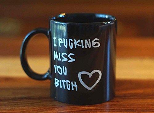 Vansaile InterestPrint Best Friends Long Distance Friendship I Fucking Miss You Bitch black Coffee Mug or Tea Cup