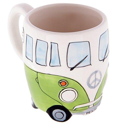 Volkswagen - Green Ceramic Shaped Coffee Mug  Cup VW Camper Van By Giftbrit