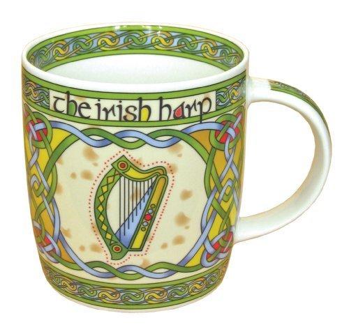 Irish Harp bone china mug - Irish gift designed in Galway Ireland by Royal Tara