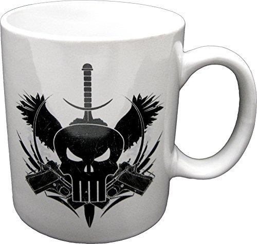 Mugs Marvel Extreme The Punisher Guns Mug 12-Ounce White