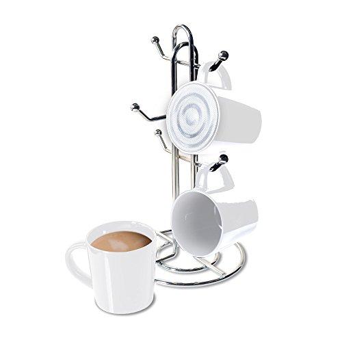 CTA Digital SP-BMSW Bluetooth Speaker Mug with Mug Stand Porcelain Mugs