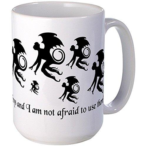 CafePress - Flying Monkey Mugs - Coffee Mug Large 15 oz White Coffee Cup