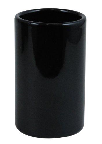 Kiera Grace Ceramic Tumbler 45 by 3 Inch Black