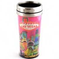 Las Vegas Pink Solar Coffee Thermal Tumbler Travel Mug 37016