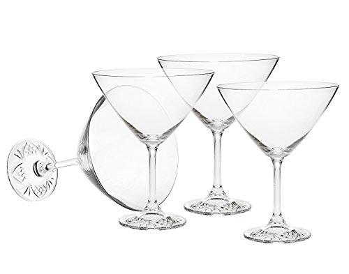 Godinger Silver Art Dublin Edge 95 Oz Martini Set of 4