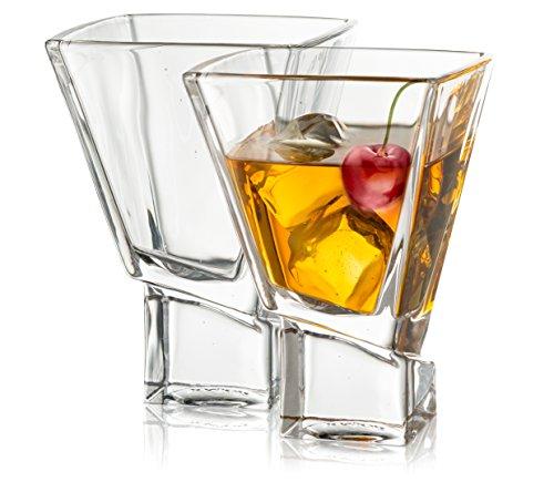 JoyJolt Carre 2-Piece Cocktail Glasses Set 8 Ounce Martini Glasses