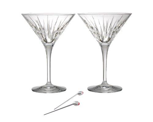Reed Barton Soho Martini Set of 2 with Olive Picks