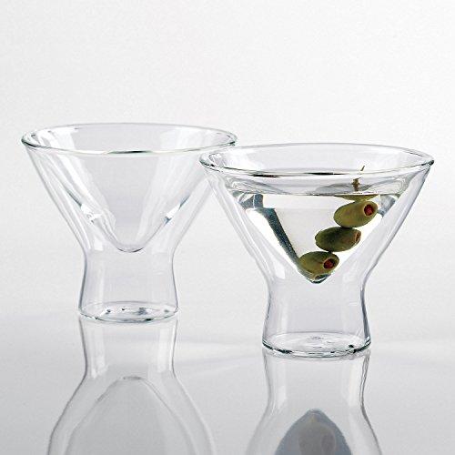 Wine Enthusiast Kitchen us kitchen Steady-Temp Martini Glasses Set of 4 Clear