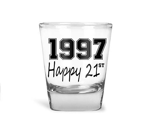 AW Fashions 1997 Happy 21st Birthday - 21st Birthday Gift - Party Shot Glass