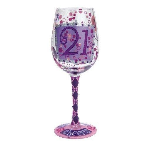 Lolita Birthday Wine Glasses with Bottle Opener 21