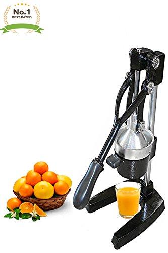 Extra Large Commercial Cast Iron Juice Press Juicer Heavy Duty Restaurant Bar Lemon Orange Citrus Juicer Black