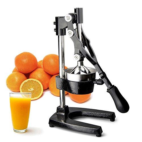 TrueCraftware Commercial Citrus Juicer Hand Press - Manual Juicer Extractor - Fruit Juice Press - Heavy Duty Cast Iron Citrus Juicer - Citrus Press - Citrus Squeezer for Lemons Limes and Oranges etc