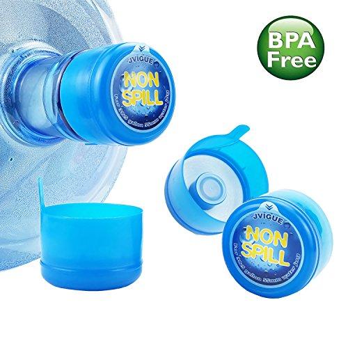 3 5 Gallon Water Jug Cap Replacement Non Spill Bottle Caps with Cap-Opener Anti Splash Peel Pack of 20