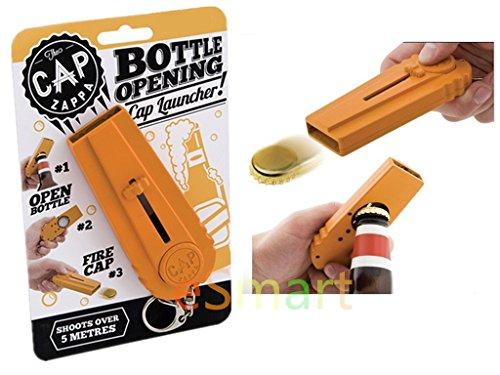 eSmart Cap Fly Bottle Opener Cap Launcher Shoots Over 15 Feet - Orange by eSmart