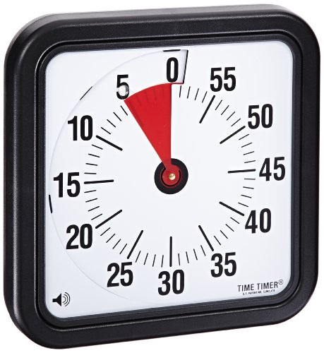 Time Timer Audible Countdown Timer - 8 inch - Black