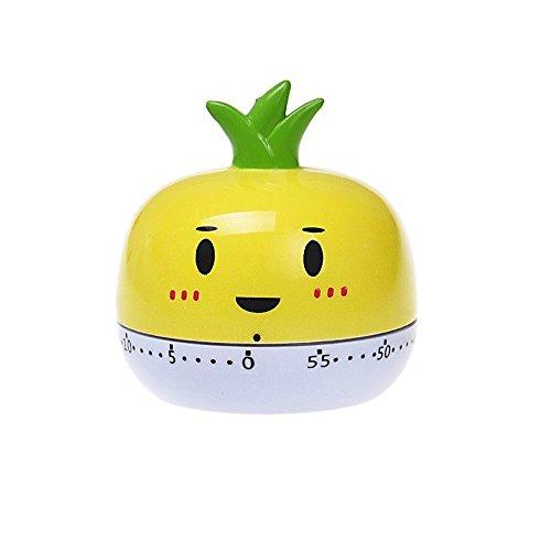 yueton Cute Vegetables 60 Minutes Cooking Mechanical Timer temporizador for Kitchen Alarm Home Desktop Decor