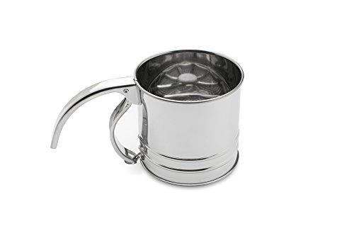 Fox Run 4652 Flour Sifter Stainless Steel 1-Cup