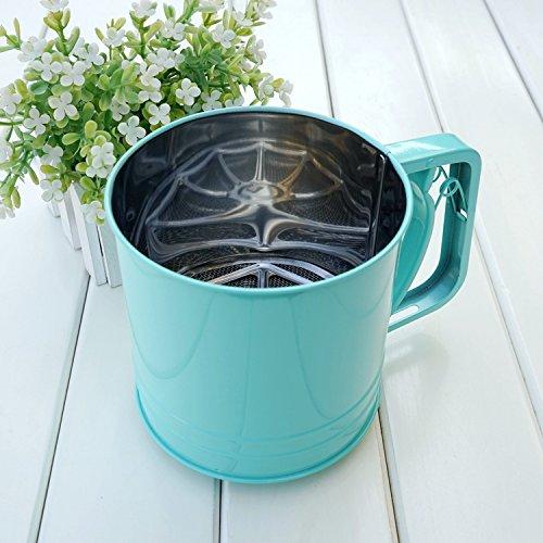 Kisstaker Stainless Steel Flour Sugar Sifters Kitchen Gadgets Blue