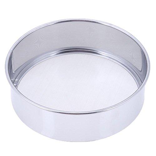 Whitelotous 15cm Handheld Ultra-fine Round Stainless Steel Flour Sifter Flour Sieve Kitchen Tools Baking Tool