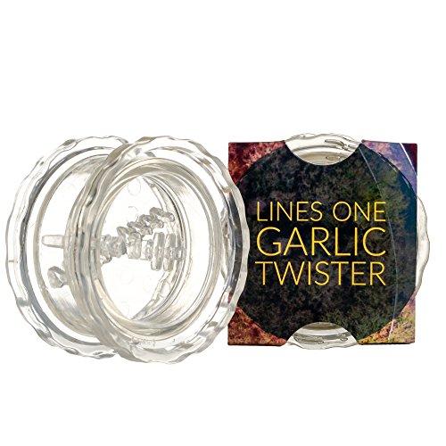 LinesOne Garlic Press Crusher Twister Mincer Garlic Twist Hand Presser Crusher Ginger Squeezer Slicer Masher Kitchen Tool