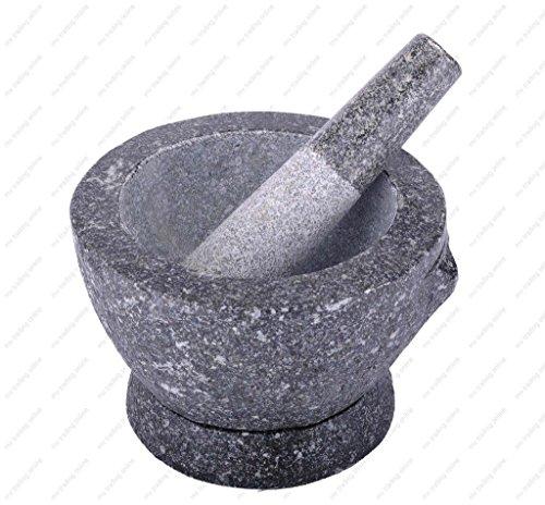 Stone Granite Mortar and Pestle 7 in 2 cup capacity