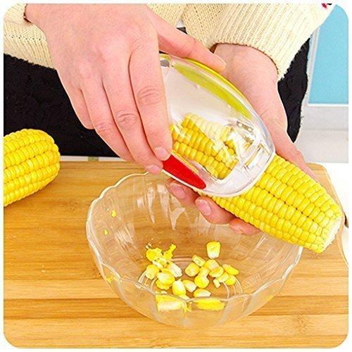 Corn Stripper Corn Peeler Corn Cutter Corn Cob Corn Shucker Remover Creative Kitchenware Quick Corn Cob Remover Kitchen Cooking Tools with Hand Protector