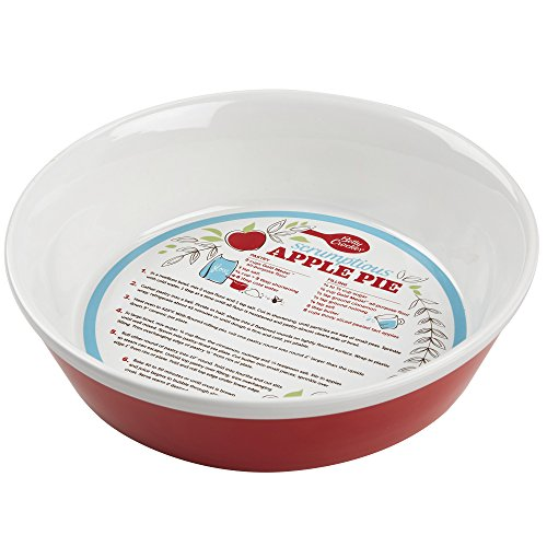 Betty Crocker 28619 Ceramic Pie Plate Red