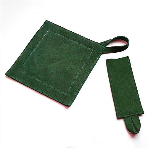 All Purpose Leather Suede Hot PadTrivetPot Holder Handle Holder Combo Hunter - Set Hot Pad Handle Holder