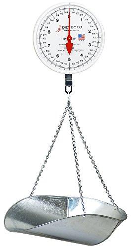 Detecto MCS-20P Hanging Dial Scale 20 lb Capacity Scoop