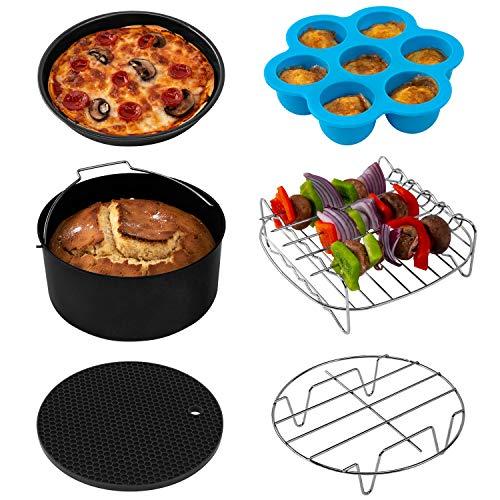 COSORI Air Fryer Accessories XL C158-6AC Set of 6 Fit all 53Qt 58Qt 6Qt Air Fryer FDA Compliant BPA Free Dishwasher Safe Nonstick Coating