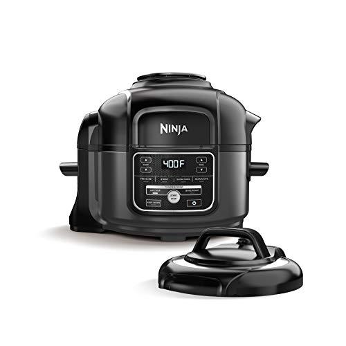 Ninja Foodi 7-in-1 Programmable Pressure Fryer Slow Multi Cooker with TenderCrisp Technology 5 Pot 3-qt Air Fry Basket OP101 5-Quart BlackGray