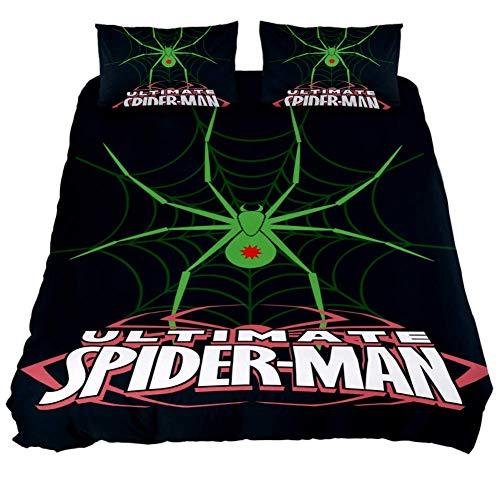 LORVIES Spider 3 Duvet Cover Sets Decorative 3 Piece Bedding Sets with Pillow Shams for Men Women Boys Girls Kids Teens