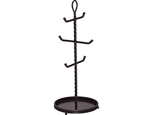 Gourmet Basics by Mikasa Metal Rope Mug Tree Antique Black