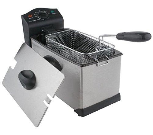 Cooks Essentials Deep Fryer 3 Quart 1700 Watt Stainless Steel Deep Fryer