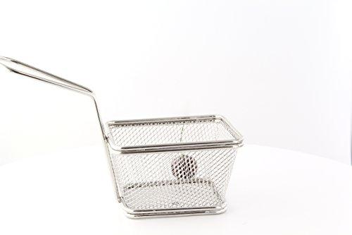 Mini Stainless Steel Fryer Basket Case of 6 PacknWood - Metal Wire Display Basket Stand 39 x 32 x 28 294PAN11