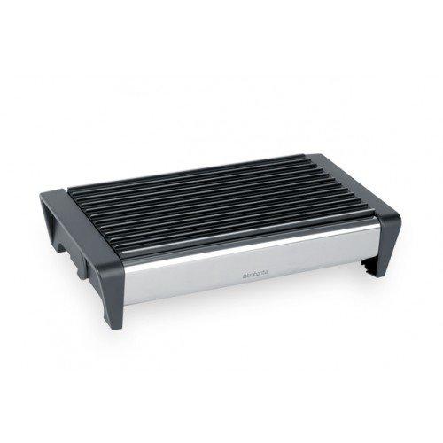 Brabantia Food Warmer 2 Burner - Brilliant Steel with Black Grille