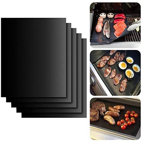 Fanddy Reusable Non-stick BBQ Grill Roast Mat Portable Outdoor Picnic Cooking Barbecue Baking Mats